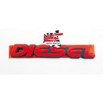Emblema Diesel Vermelho Mmf Auto Parts