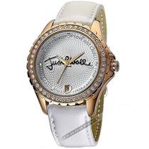 Relógio Feminino Just Cavalli Branco Dourado Couro Luxo Mk