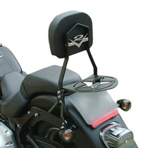 Bagageiro Sissy Bar Preto Destacável Harley Davidson Fat Boy