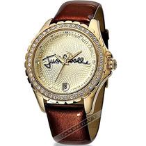 Relógio Feminino Just Cavalli Marrom Dourado Couro Luxo Mk