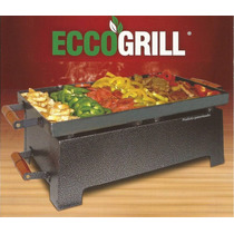 Grill Churrasqueira A Álcool Ecogrill C Tampa Grelha