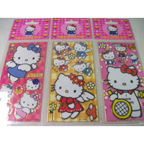 Hello Kitty Kit Cartela Adesivo Stickers C/ 12 Cartelas
