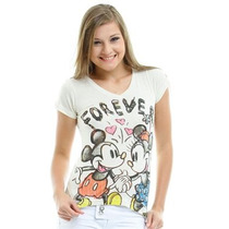 Mickey Disney Blusinha Creme Tam . P