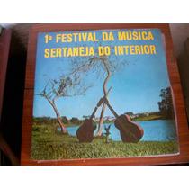 1º Festival Da Musica Sertaneja Do Interior - Lp Vinil 1969