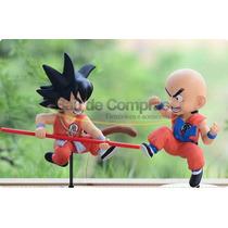 2 Boneco Colecionável Dragon Ball Goku E Kuririn - Original