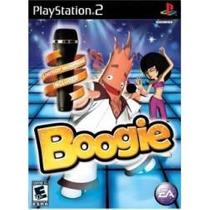 Box Para Playstation Ps2 Boogie Jogo Com Microfone Logitech