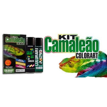 Tinta Spray Efeito Camaleão Kit Completo Azul Colorart