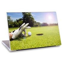 Skin Adesivo Notebook Papel Parede Golfe Bola Mão Skdi0559