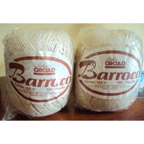 015 Bbt- Barbante Circulo- Cor Natural- Barroco- 6 Novelos