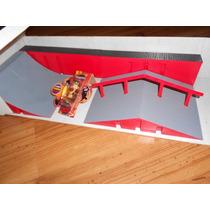 Skate De Dedo Original - Skatepark Sbego - Rampa + Skate