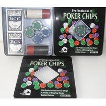 Jogo De Poker Profissional 100 Pcs Lata Luxo Presente