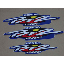 Kit Adesivos Honda Biz 100 2001 Azul - Decalx