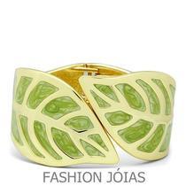 Bracelete Folha Folheado A Outro 18k - Glamour E Elegancia
