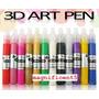 Kit C/ 12 Esmalte 3d Caneta Nail Art Pen