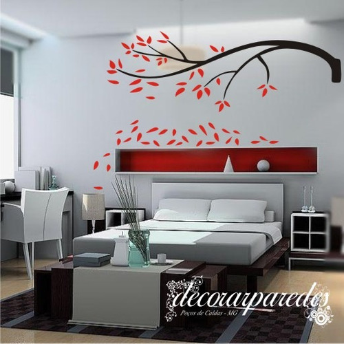 Adesivo grande galhos laterias n02 florais decorar paredes for Decorar paredes grandes