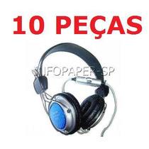 Liquidação 10 Fones De Ouvido Fancong C/ Microfone No Fio !!