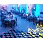 Pista De Dança Xadrez - 4x4m - 16m² + Fita - Tapete Dj Piso