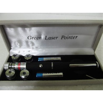 Laser Point Verde Show 300mw Green 5 Ponteiras
