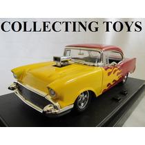 Chevy Bel Air 57 - Com Som E Luz - Hot Rod - 1:18 - Ertl
