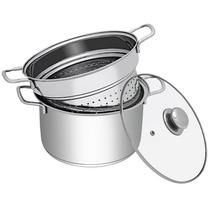 Espagueteira Aço Inox 6 Litros Hércules Cozinha Massas Ótima