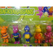 05 Bonecos Backyardigans De 07 Cm Bolos Festas Aniversario