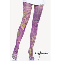 Meia-calça Fashion Desenhada Importada Leg Avenue Lingerie