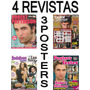 Kit Robert Pattinson 4 Revistas 3 Posters 32 Adesivos