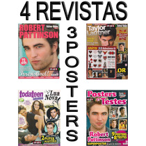 Kit Robert Pattinson Revistas Posters 32 Adesivos Crepusculo