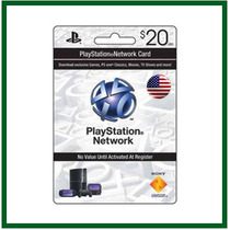 Playstation Network Card - $20 - Psn - Entrega Imediata