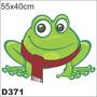 Adesivo Decorativo D371-sapinho Galinha Pintadinha Frio Fofo