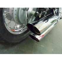 Escapamento Shadow 750 Acima 2011 3 Pol. Corte Baixo/lateral