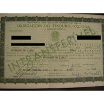 Obrigações Reajustaveis Do Tesouro Nacional - 1965