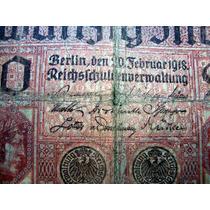 Nota De 20 Marcos Alemães - 1918 Zwanzig