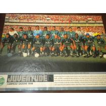 Poster Juventude Campeão Gaucho 1998 21x27 Cm Placar