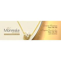 Monreale Corrente Ouro 18k Maciço Veneziana + Ponto De Luz