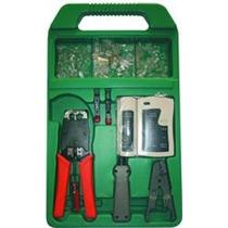 Kit Testador De Rede + Alicate Rj45 Profissional + Brindes