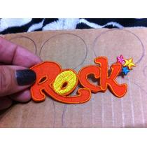 Aplique Bordado P/roupas, Rock (laranja)- 12,00 Frete Gratis