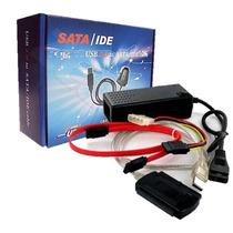 Cabo Adaptador Usb 2.0 Ide Sata Hd Dvd Conversor Pc Co031