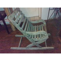 (only Wood) Cadeira De Balanço Antiga De Criança