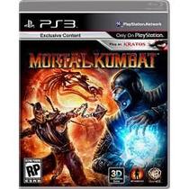 Jogo Para Ps3 Playstation 3 Mortal Kombat 3d Em Portugues