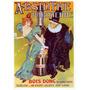 Cartaz Poster Vintage Bebida Absinto Parisienne França