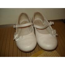 Sapato Em Couro Tipo Boneca Branco Nº 29