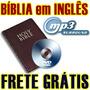 Bíblia Narrada Em Inglês Com Áudio Mp3 Em Dvd + Frete Grátis