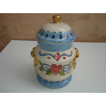 Bomboniere Baleiro Biscoiteiro Porcelana Louça Tampa Antigo