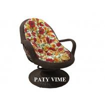 Cadeira Poltrona Giratória De Vime Sintético Frete Grátis Rj