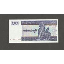 8 Cédula Nova - Bank Myanmar 10 Ten Kyats Sequência