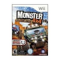 Box Monster Stunt Racer 4 X 4 Para Nintendo Wii Com Volante