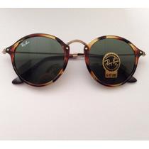 Óculos De Sol Fleck Round Redondo 2447 Importado