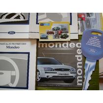 Manual Proprietário Ford Mondeo 01/02 Novo Em Branco Ótimo