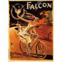 Cartaz Poster Vintage Mulher Veloz Bicicleta Passaro Falcão